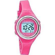 Sportech Women's | Thin Band Water Resistant Swim Sport Watch (pink)