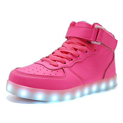 CIOR Kids Boy and Girl's High Top Led Sneakers Light Up Flashing Shoes(Toddler/Little Kid/Big Kid),101C,06,36