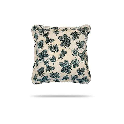 Denali Home Collection by Mont Square Pillow, 18-Inch, Winter Pine Cones/Pine (Collection Cone Pine Bedding)