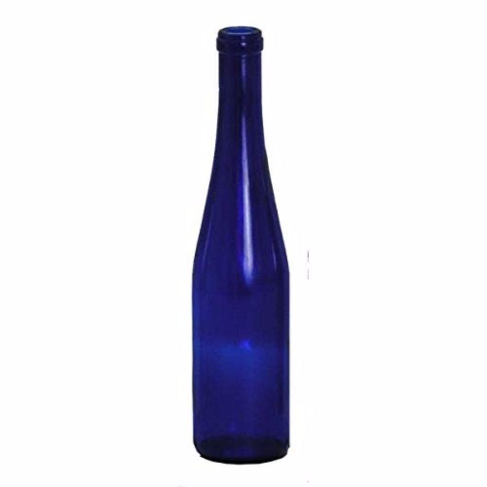 375 mL Cobalt Blue Stretch Hock Bottles (Pack of 12)