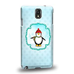 Case88 Premium Designs Art Christmas Classics Series Christmas Penguin Protective Snap-on Hard Back Case Cover for Samsung Galaxy Note 3