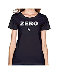 Maria Black Women's O-neck Shirts The Smashing Pumpkins Zero Star Logo