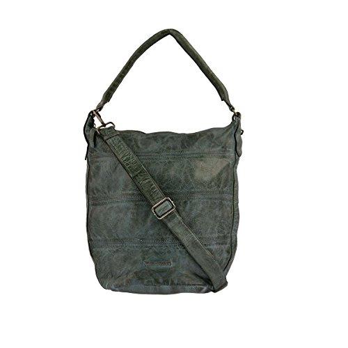 FREDsBRUDER - Bolso de tela de Piel para mujer marrón caramelo dunkelgrün, grün