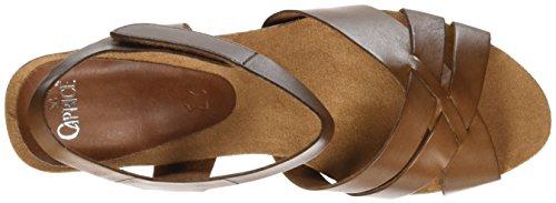 Caprice 28317, Sandalias con Cuña para Mujer Marrón (COGNAC NAPPA)