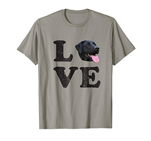 I Love My Black Lab T-Shirt | Labrador Retriever Dog Tee (Black My Lab)