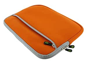 ASUS Eee PC 1005HA-VU1X-PI 10.1-Inch Netbook Neoprene Sleeve SlipCase (Invisible Zipper Dual-Pocket - Orange)