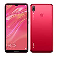 Huawei Y7 2019 (32GB, 3GB) 6.26″ Dewdrop Display, 4000 mAh Battery, 4G LTE GSM Dual SIM Factory Unlocked Smartphone (Dub-LX3) – International Version, No Warranty (Red)