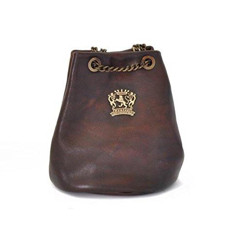 Pratesi Womens Italian Leather Pienza Bag in Cow Leather in Coffee
