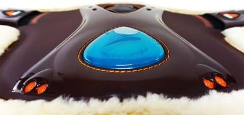Farbe schwarz EQUICK Kurzgurt mit Stollenschutz eOnyx Guard Fluffy L/änge 75 cm