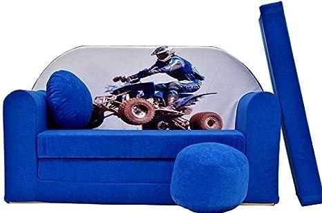 PRO COSMO C26 niños sofá Cama futón 3 en 1 con Puff ...