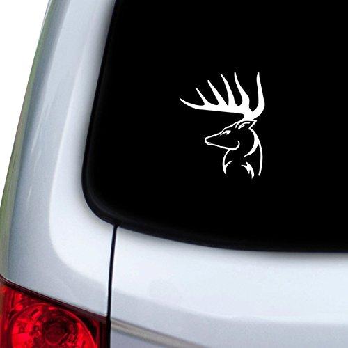 StickAny Car and Auto Decal Series Deer Head 10 Sticker for Windows, Doors, Hoods (Deer Head Decals)