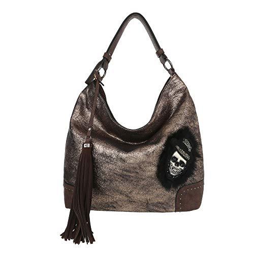 À Sac Ital Porter Femme L'épaule Bronze design Pour w8BxBC5Iq
