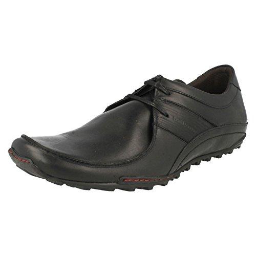 Base London Spring Excel - Zapatos para hombre de estilo casual Negro - negro (Waxy Black)