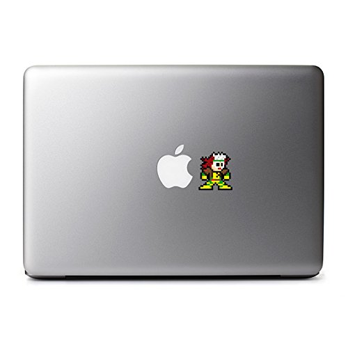 8-Bit Rogue Decal from X-Men for MacBook, iPad Mini, iPhone 5S, Samsung Galaxy S3 S4, Nexus, HTC One, Nokia Lumia, -