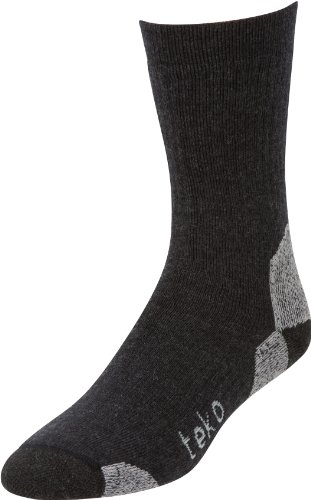 Teko Men's Tekomerino Hike/Trek Socks, Charcoal, X-Large