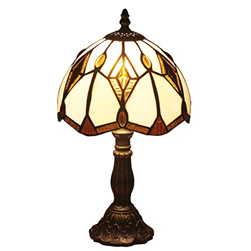 U Taste Tiffany Style Lamp With 8 Inch Amber Shade 15 Inch Height