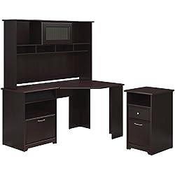 Cabot Corner Desk, Hutch, and 2 Drawer File Cabinet
