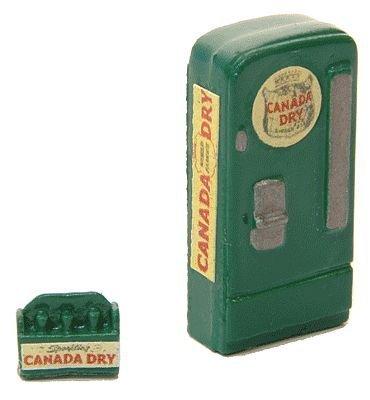 - HO Scale Upright Soda Machine w/Case -- Canada Dry