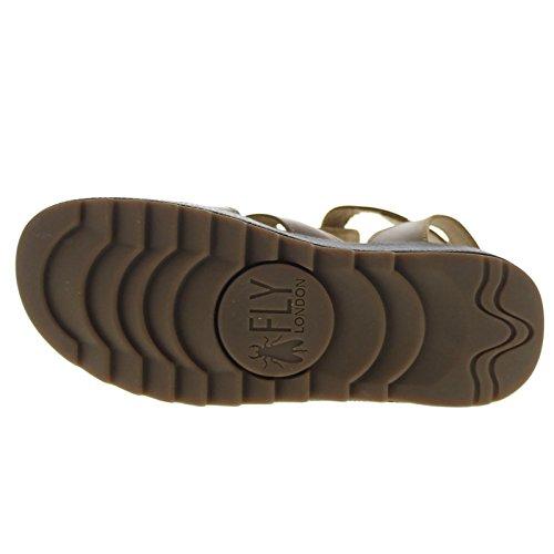 Fly London Womens KANE991FLY Platform Leather Sandals marrón