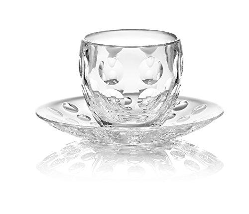 (Guzzini Venice Collection Espresso Cup with Saucer, 3-3/4-Fluid Ounces, Transparent)