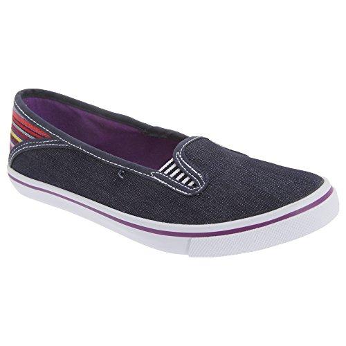 Doble tacón Zapatos a verano Costura Damas Negro rayas Dek casual Mujer ExqZRY