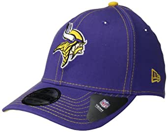 NFL Minnesota Vikings True Team Classic 39Thirty Flex Fit Cap, Large/X-Large