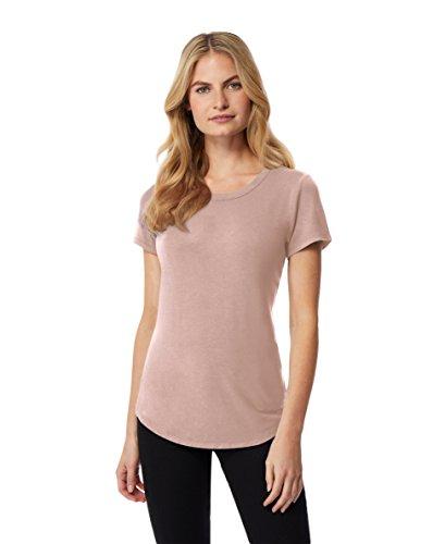 - 32 DEGREES Women Cool Luxe Modal Short Sleeve Tee Shirt-Indian Pink-Small