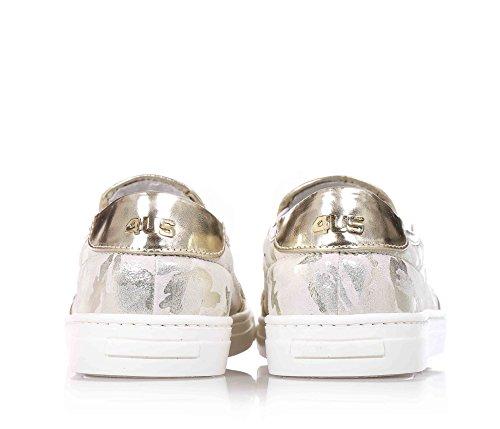 Sans Fille Filles 4us Lacets Chaussure Beige Femme En Tissu YEq00RASwx