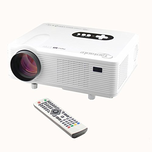 Hd Projector Full Color 720p 2400 Lumens Digital Tv Single: Taotaole HD Home Theater 720P Support 1080P LCD PROJECTOR