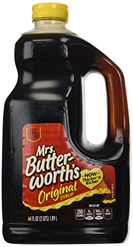 Mrs. Butterworth's original syrup, Thick-n-Rich!,64 fl oz Jug,pack of 2 (Best Maple Syrup 2019)