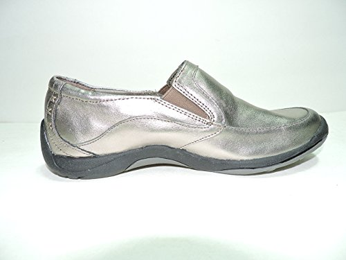 Hush Puppies Womens Yasmine Silver Platinum Suede loafers Shoes Size 7.5 M vyPT1R