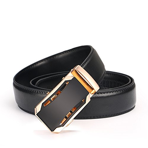 Iztor Men's Belts Leather Ratchet Dress Belt with Automatic Buckle 1 3/8'' Wider for from 20'' to 43'' Waist by iztor (Image #1)