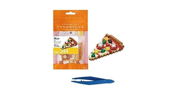 Nano Block Micro-Sized Building Blocks NBC-244 NEW NANOBLOCK PIZZA Food Series