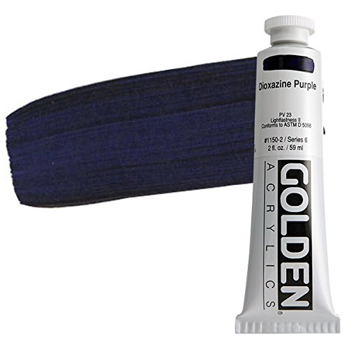 Golden Artist Colors 2 Oz Heavy Body Acrylic Color Paints Color: Dioxazine Purple
