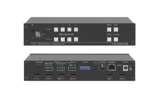 Matrix A/v Switcher (Kramer VS-42UHD 4x2 4K60 4:2:0 HDMI Automatic Matrix Switcher)