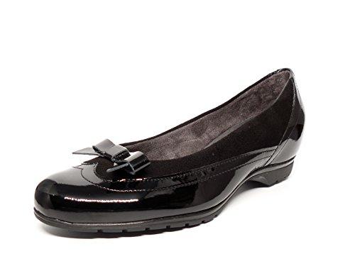 negro y color disponibles PITILLOS en humo con en color 574 Piel combinada Ante 3411 negro mujer Manoletinas Charol cómodas 7WnZ44