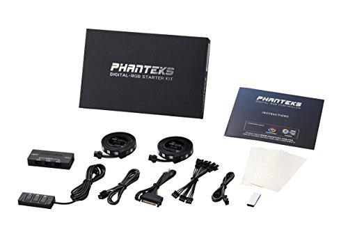 Phanteks PH-DRGB_SKT Digital RGB LED Starter Kit Includes The Controller Hub and DRGB LED Combo Kit -