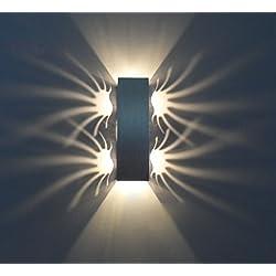 LUMINTURS 2W Dimmable Brightness Adjustable LED Wall Sconce Light Modern ...