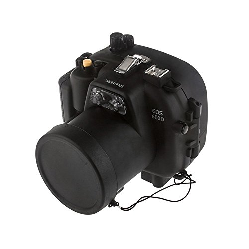 Meikon 40M Waterproof Underwater Camera Housing Case Bag for Canon 600D T3i Camera (Underwater Housing Canon 600d)