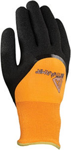 - Ansell Size 8 Hi-Viz Orange And Black ActivArmr 97-011 Acrylic And Polyester Acrylic Terry Lined Cold Weather Glove With Knit Wrist, Nitrile Coating And Sandy Finish