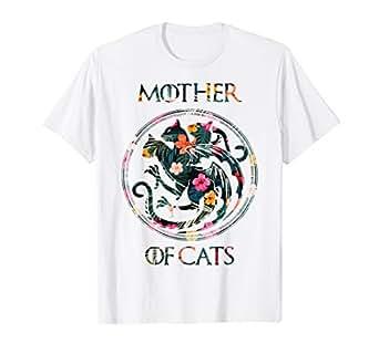 Amazon.com: Camiseta para amantes de los gatos, diseño de la ...