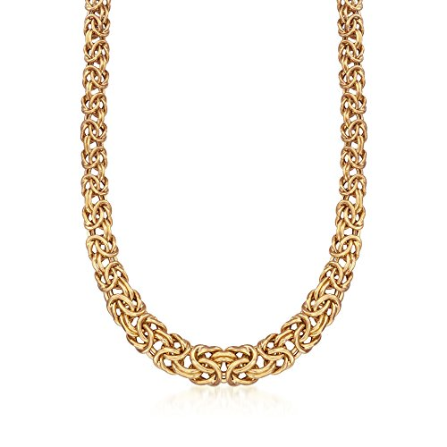 Ross-Simons Italian 24kt Gold Over Sterling Graduated Byzantine - Byzantine Graduated Necklace