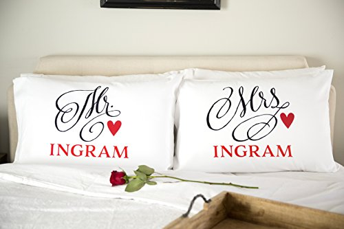Personalized Couples Pillowcases