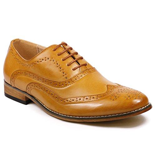 Buy mens fashion brown dress shoes - 5