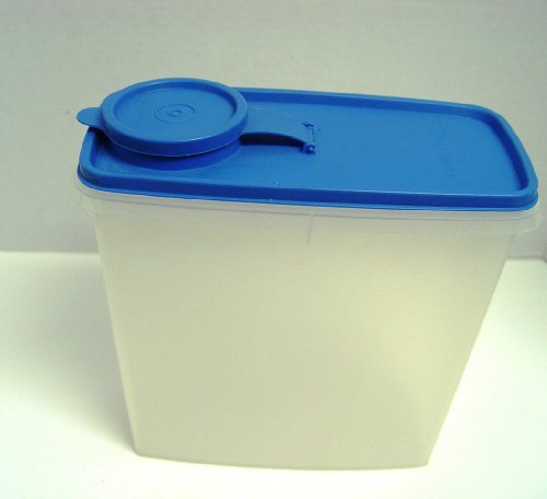 ate Sheer White with Blue Lid Cereal Keeper 13 Cups (Tupperware 13 Cup Cereal)