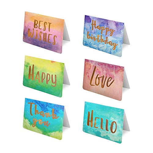 MECKILY 48 Pack All Occasion Greeting Cards - Blank Note Card,Includes Happy Birthday,Thank you,Happy,Love,Hello,Best Wishes- Bulk Box Set Variety Pack with Envelopes Included - 4 x 6 Inches