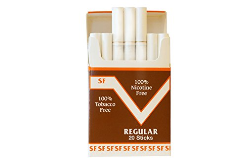 One Pack Made in USA Since 1998 100% Nicotine Free(Cocoa Bean Cigarettes) Regular Flavor (Best Tasting E Cig Juice)