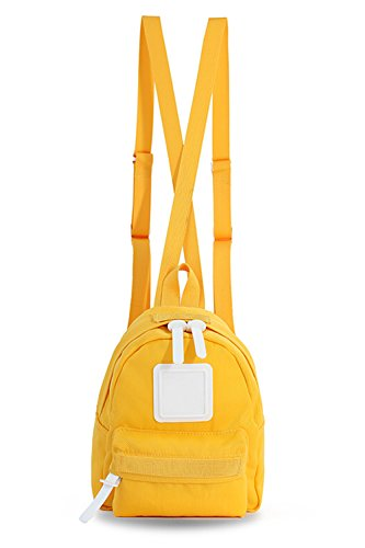 Mini Backpack For Women, Men, Toddlers, Boys and Girls; Popular as a Purse, Diaper Bag, Miniature IPad or Daypack - Yellow by Adamonica