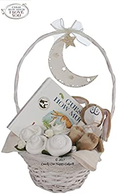 Guess How Much I Love You/® Unisex nappy cake baby gift FREE DELIVERY