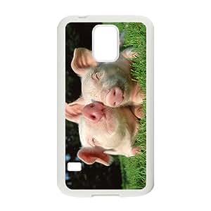 Custom So Cute Pig dibujos animados Animal Phone Case for Samsung Galaxy S5